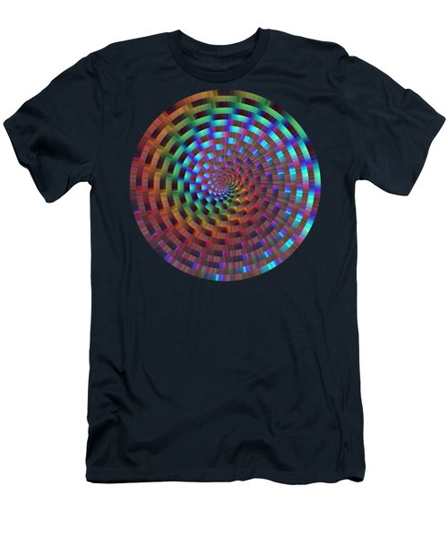 Rainbow Rings Spiral Men's T-Shirt (Athletic Fit)