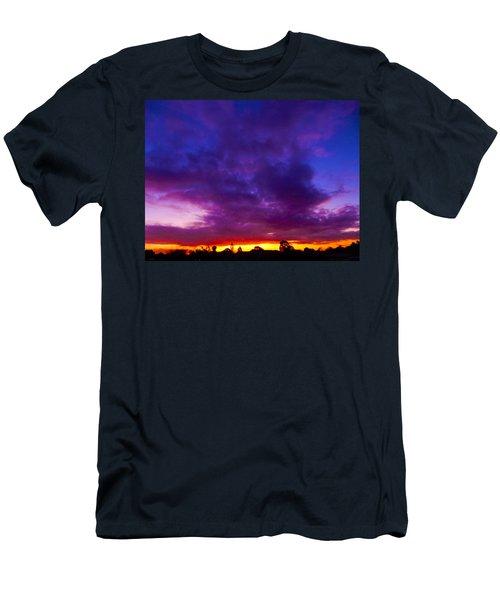 Rainbow Sunset Men's T-Shirt (Athletic Fit)
