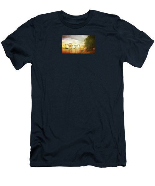 Men's T-Shirt (Slim Fit) featuring the photograph Raincloud Over Malamocco by Anne Kotan