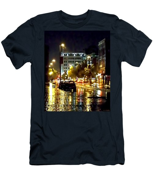 Rainy Night In Green Bay Men's T-Shirt (Slim Fit) by Lauren Radke