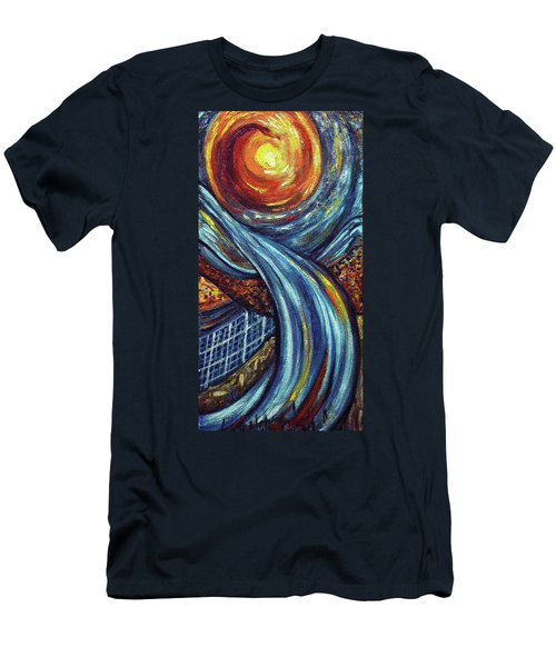 Men's T-Shirt (Slim Fit) featuring the painting Ray Of Hope 3 by Harsh Malik