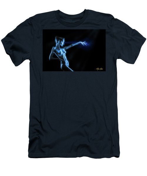 Men's T-Shirt (Athletic Fit) featuring the photograph Reaching Figure Darkness by Rikk Flohr