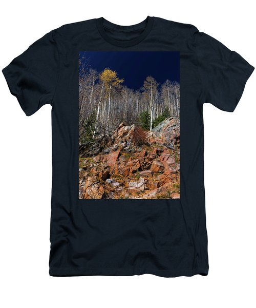 Reaching Into Blue Men's T-Shirt (Slim Fit) by Stephen Anderson