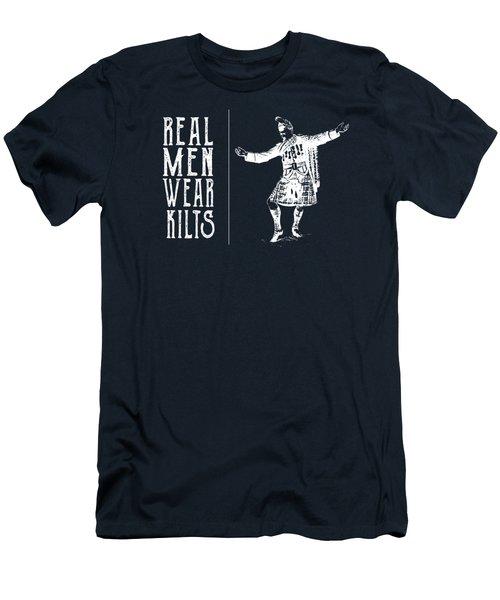 Real Men Wear Kilts Men's T-Shirt (Athletic Fit)