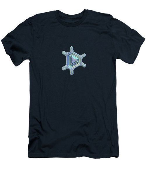 Real Snowflake Photo - Emerald Men's T-Shirt (Athletic Fit)