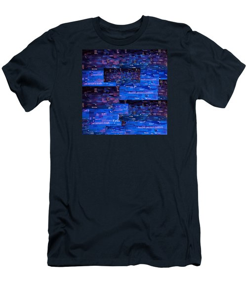 Men's T-Shirt (Slim Fit) featuring the digital art Recycling by Shawna Rowe