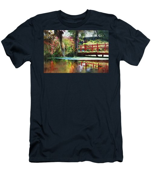 Men's T-Shirt (Athletic Fit) featuring the photograph Red Bridge by Donna Bentley