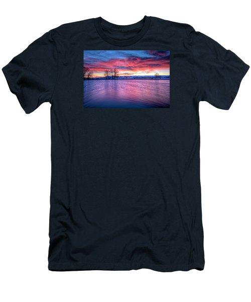 Red Dawn Men's T-Shirt (Slim Fit) by Fiskr Larsen