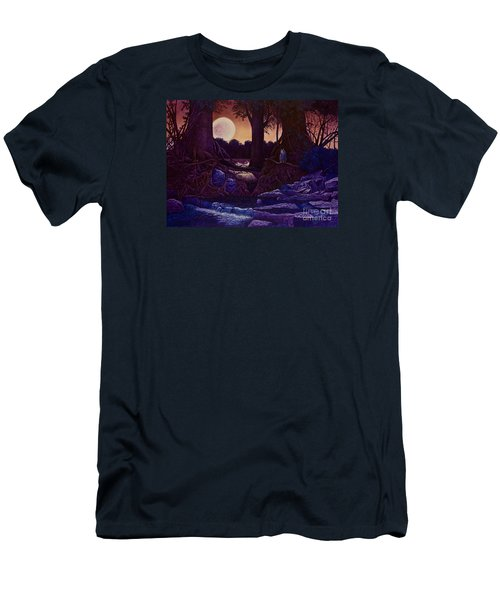 Red Moon Men's T-Shirt (Slim Fit) by Michael Frank