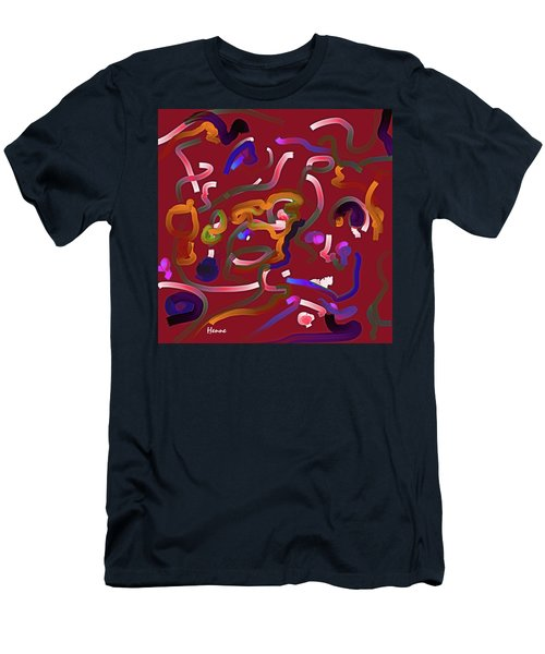 Red Musing Men's T-Shirt (Slim Fit) by Robert Henne