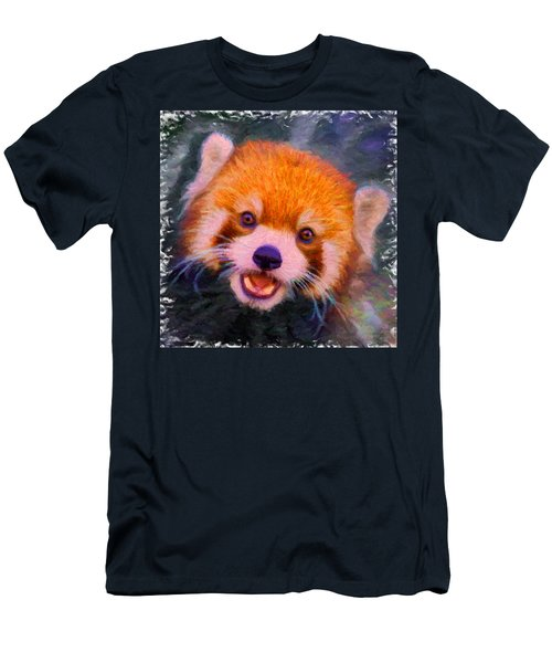 Red Panda Cub Men's T-Shirt (Slim Fit) by Caito Junqueira