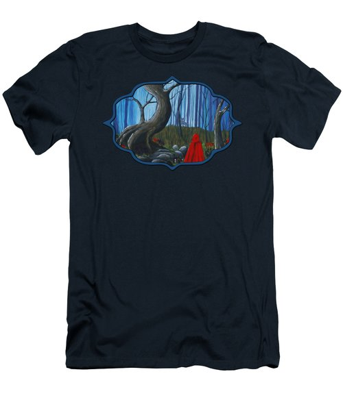 Red Riding Hood In The Forest Men's T-Shirt (Athletic Fit)