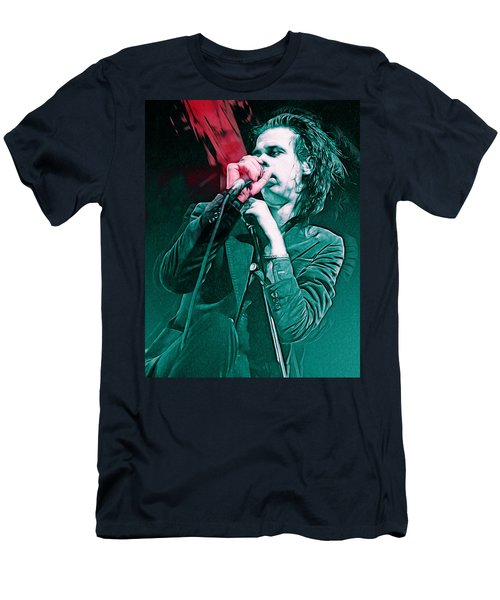Red Right Hand, Nick Cave Men's T-Shirt (Athletic Fit)