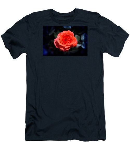 Red Rose Art Men's T-Shirt (Slim Fit) by Milena Ilieva