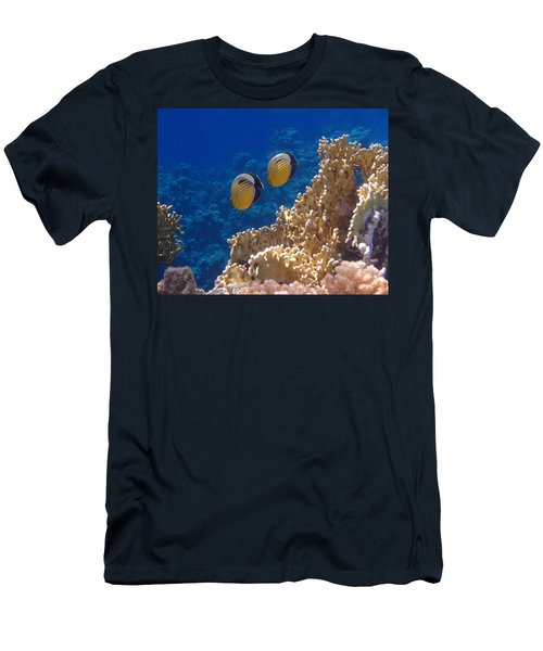 Red Sea Exquisite Butterflyfish  Men's T-Shirt (Athletic Fit)