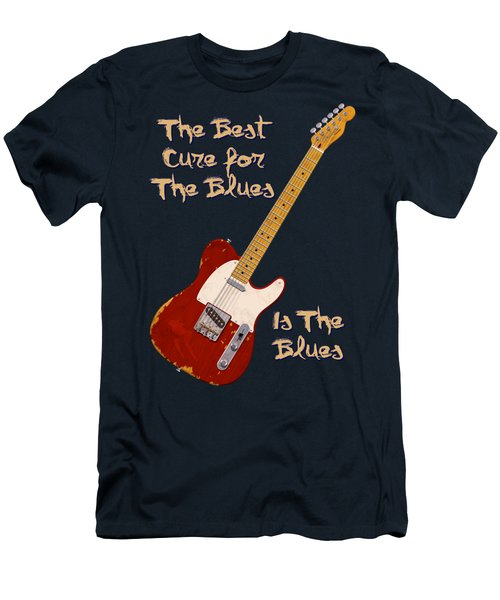 Red Tele Cure For Blues T Shirt Men's T-Shirt (Athletic Fit)