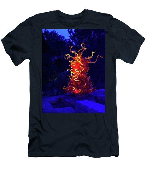 Redyellowbluenight Men's T-Shirt (Slim Fit) by Robert J Sadler