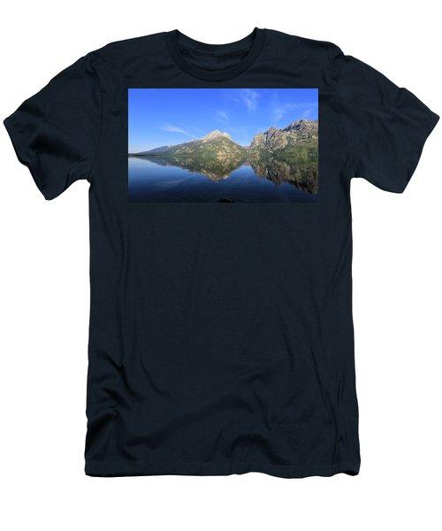 Reflection At Grand Teton National Park Men's T-Shirt (Athletic Fit)