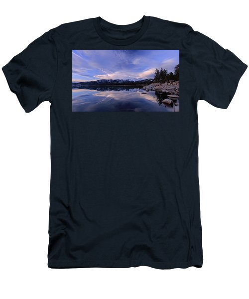 Men's T-Shirt (Athletic Fit) featuring the photograph Reflection In Winter by Sean Sarsfield
