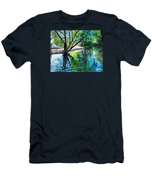 Trees Reflections Men's T-Shirt (Slim Fit)