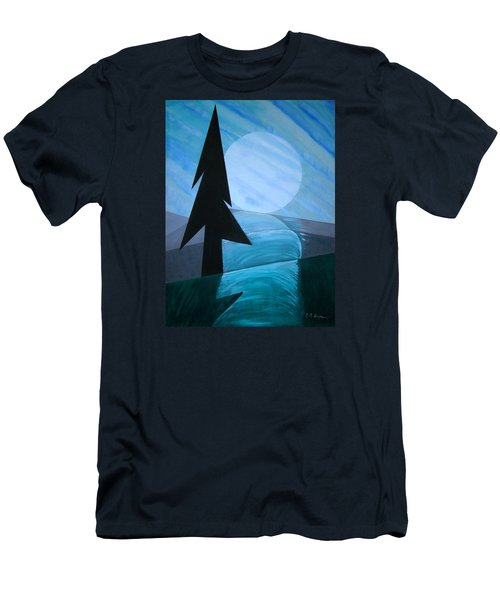 Men's T-Shirt (Slim Fit) featuring the painting Reflections On The Day by J R Seymour