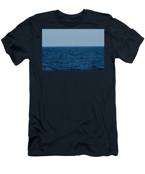 Men's T-Shirt (Slim Fit) featuring the digital art Return To The Isle Of Shoals by Barbara S Nickerson