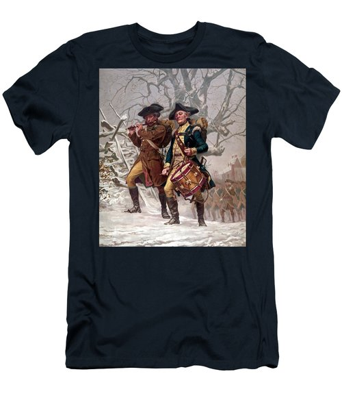 Revolutionary War Soldiers Marching Men's T-Shirt (Athletic Fit)