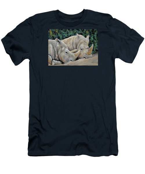 Rhinos Men's T-Shirt (Slim Fit) by Sam Davis Johnson