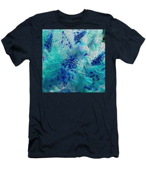 Rhododendron Turquoise Lace Men's T-Shirt (Athletic Fit)