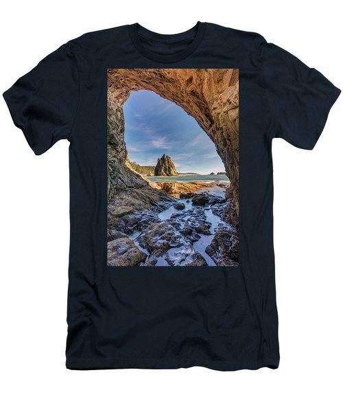 Rialto Beach Sea Arch Men's T-Shirt (Slim Fit) by Pierre Leclerc Photography