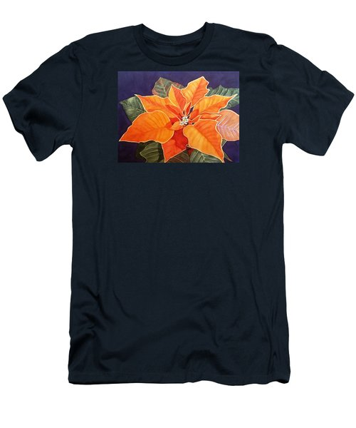 Ribbon Candy Poinsettia Men's T-Shirt (Athletic Fit)