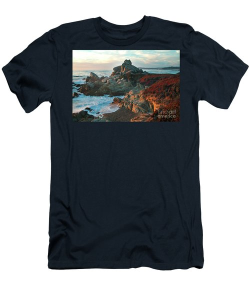 Ribera Beach Sunset Carmel California Men's T-Shirt (Athletic Fit)