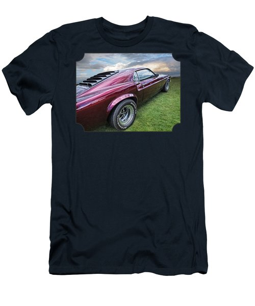 Rich Cherry - '69 Mustang Men's T-Shirt (Slim Fit) by Gill Billington