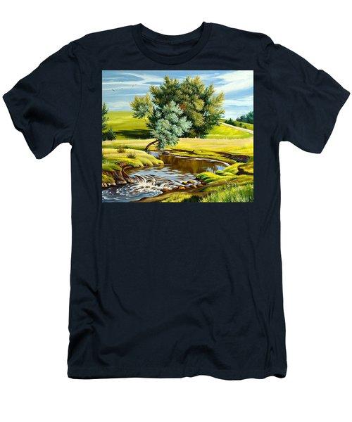 River Of Life Men's T-Shirt (Slim Fit) by Karen Showell