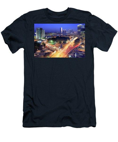 Men's T-Shirt (Slim Fit) featuring the photograph Rivers Of Light by Bernardo Galmarini