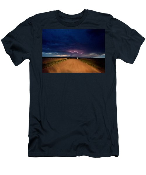 Road Under The Storm Men's T-Shirt (Slim Fit) by Ed Sweeney