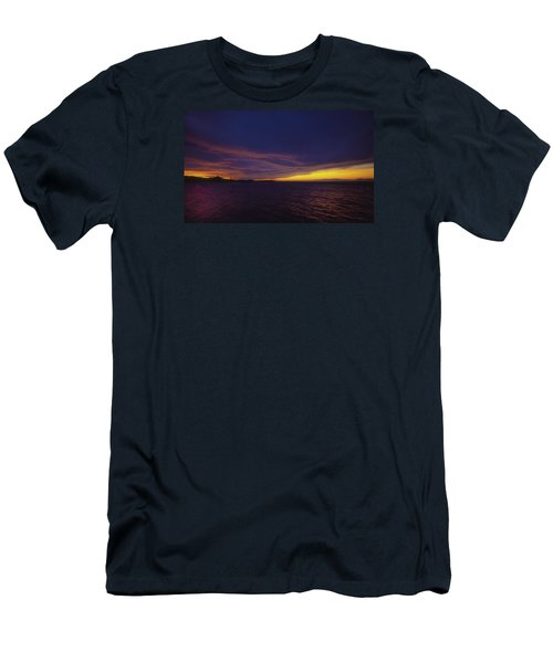 Roatan Sunset Men's T-Shirt (Slim Fit) by Stephen Anderson