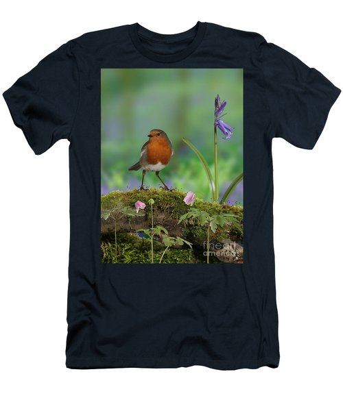Robin In Spring Wood Men's T-Shirt (Athletic Fit)