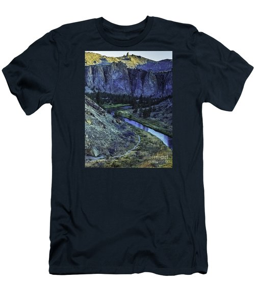 Rock Climbing Mecca Men's T-Shirt (Slim Fit) by Nancy Marie Ricketts
