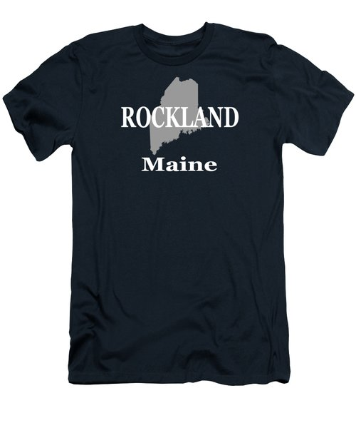 Men's T-Shirt (Slim Fit) featuring the photograph Rockalnd Maine State City And Town Pride  by Keith Webber Jr