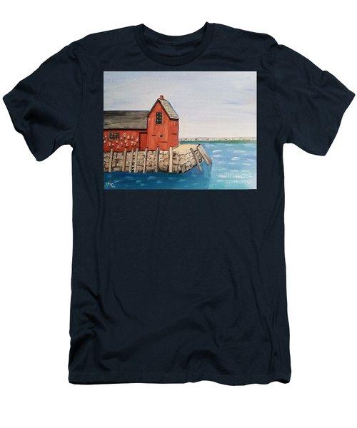 Rockport Motif In Winter Men's T-Shirt (Athletic Fit)