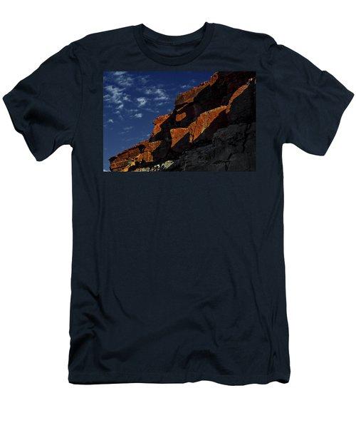 Sky And Rocks Men's T-Shirt (Slim Fit) by Alex Galkin