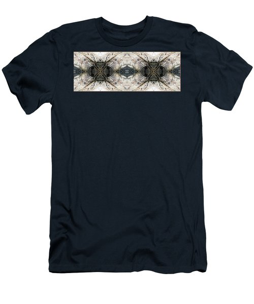 Men's T-Shirt (Slim Fit) featuring the photograph Rocky Coast Abstract by Joy Nichols