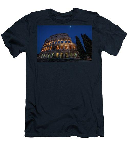 Roman Coliseum In The Evening  Men's T-Shirt (Athletic Fit)
