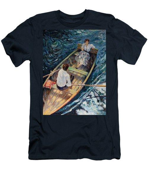 Dordogne , Beynac-et-cazenac , France ,romantic Boat Trip Men's T-Shirt (Slim Fit) by Pierre Van Dijk