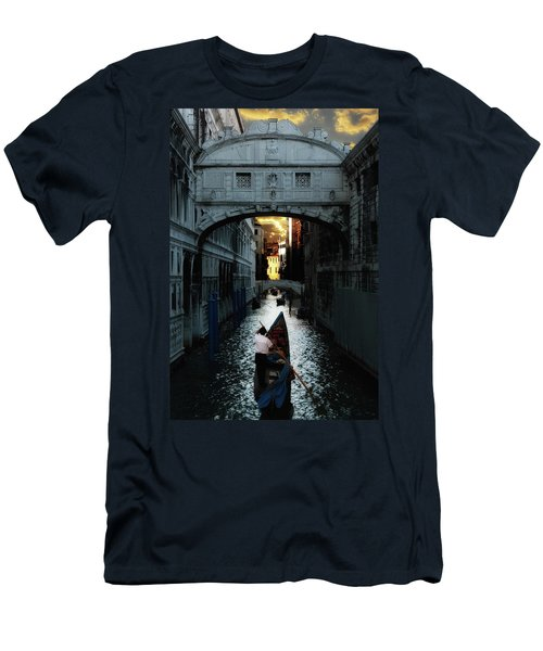 Romantic Venice Men's T-Shirt (Slim Fit) by Harry Spitz