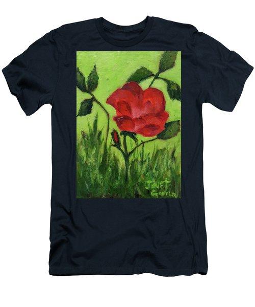 Rose Men's T-Shirt (Slim Fit) by Janet Garcia