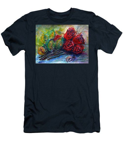 Roses Men's T-Shirt (Slim Fit) by Jasna Dragun
