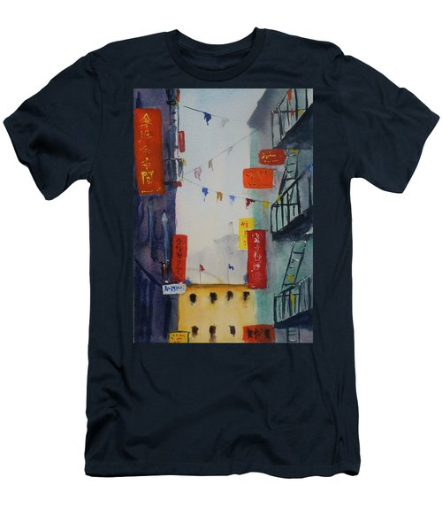 Ross Alley1 Men's T-Shirt (Slim Fit) by Tom Simmons