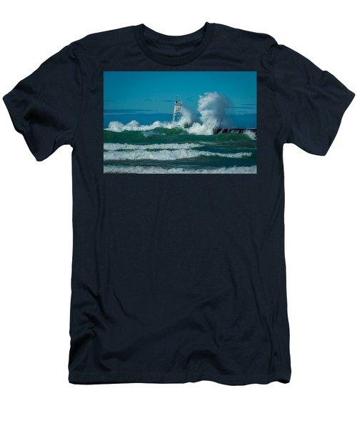 Rough Seas  Men's T-Shirt (Athletic Fit)